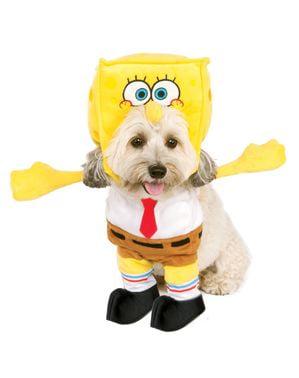 Costum Sponge Bob pentru cățel cu glugă