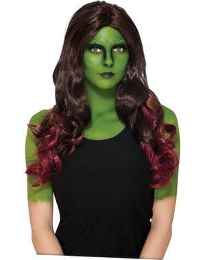 Peruca de Gamora para mulher - Guardiões da Galáxia Vol 2