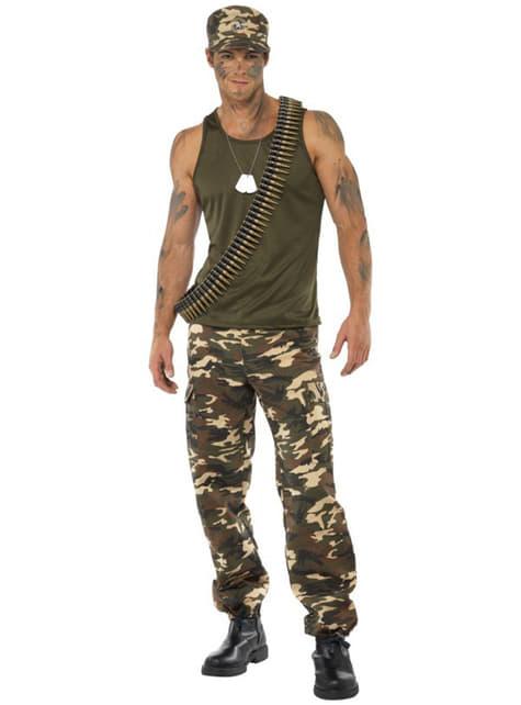 Camouflage Kostuum voor mannen