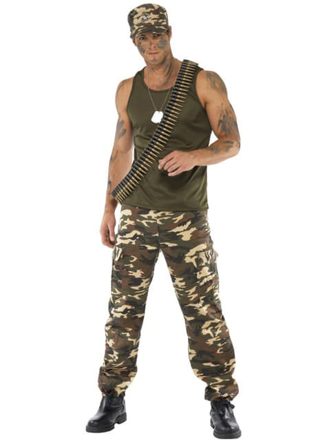 Disfraz de camuflaje para hombre - traje