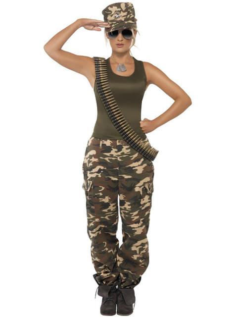 Disfraz de camuflaje para mujer
