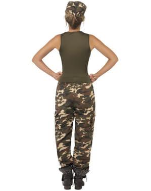 Kostým pro dospělé army dívka