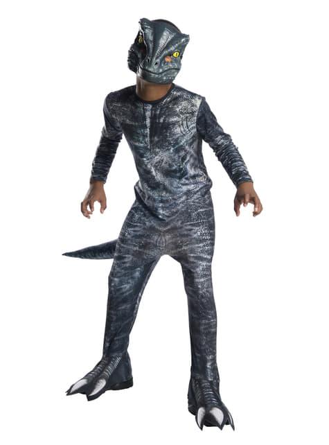 Chlapecký kostým velociraptor modrý - Jurský svět