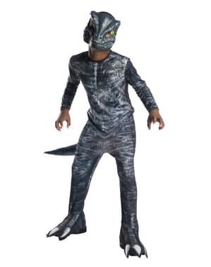 Blå Velociraptor Dinosaur Kostume til Børn - Jurassic World