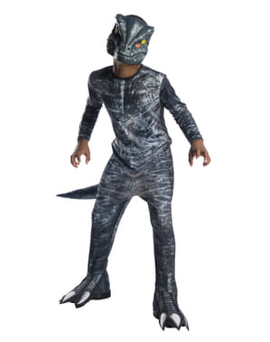 Costum de dinozaur albastru Velociraptor pentru copii - Jurassic World