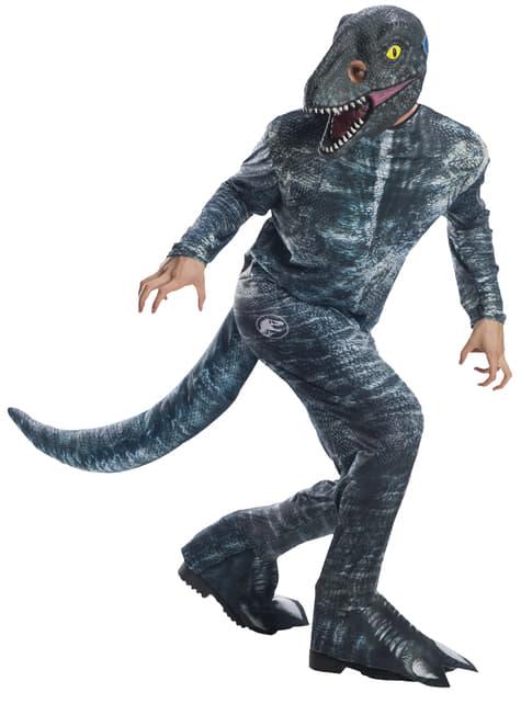 Blauwe Velociraptor kostuum voor volwassenen - Jurassic World