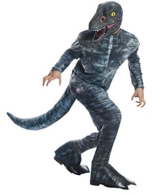 Blå Velociraptor Dinosaur Kostyme til Voksne - Jurassic World