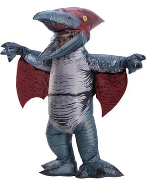 Disfarce de dinossauro Pterodonte insuflável para adulto - Jurassic World