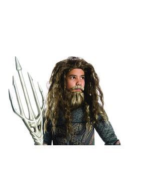 Aquaman Perücke mit Bart für Jungen - Die Liga der Gerechten
