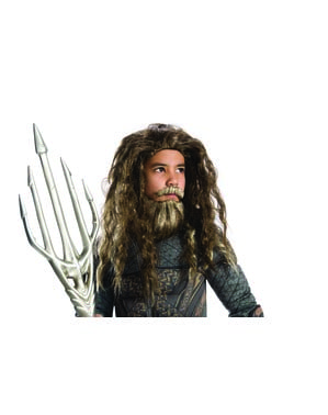 Parrucca con barba di Aquaman per bambino - Justice League