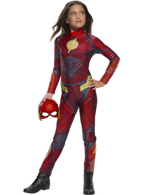 Fato de Flash para menina - Liga da Justiça