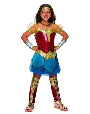 Fato de Wonder Woman Premium para menina - Liga da Justiça