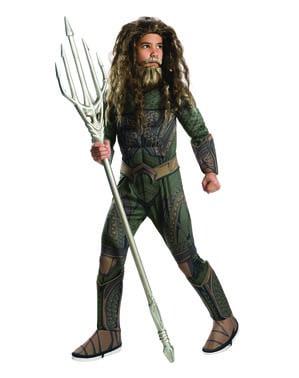 Fato de Aquaman deluxe para menino - Liga da Justiça