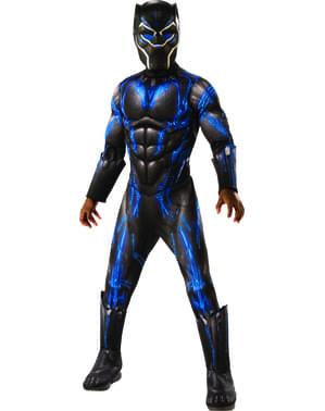 Luxusní chlapecký kostým Black Panther bojový oblek