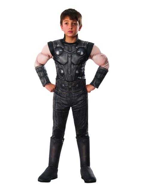 Fato de Thor deluxe para menino - Vingadores Infinity War