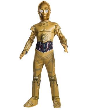 Klassisk C3PO kostyme til gutter - Star Wars