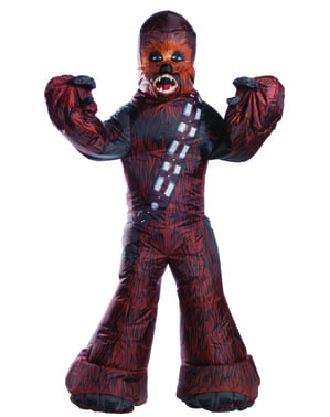Chewbacca oppblåsbart kostyme til voksne - Star Wars
