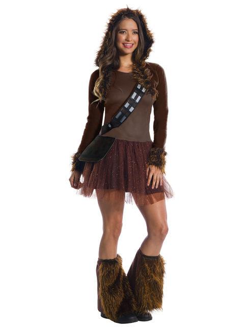 Maskeraddräkt Chewbacca deluxe dam - Star Wars