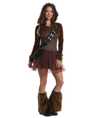 Deluxe Chewbacca kostyme til dame - Star Wars