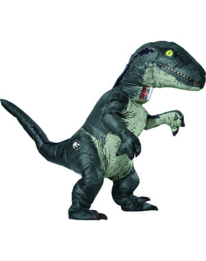Inflatable Blue the Velociraptor Dinosaur Costume for Adults - Jurassic World