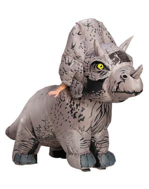 Dinosaurie Maskeraddräkt Triceratops uppblåsbar för vuxen - Jurassic World