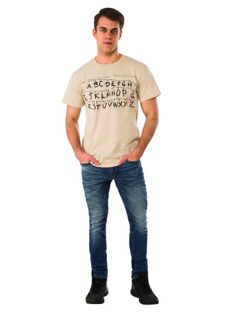 T-shirt de abecedário na parede - Stranger Things