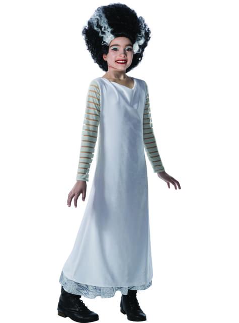 Disfraz de La Novia de Frankenstein para niña