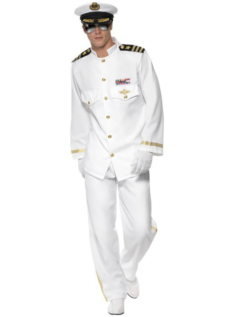 Kapitein deluxe Kostuum voor mannen