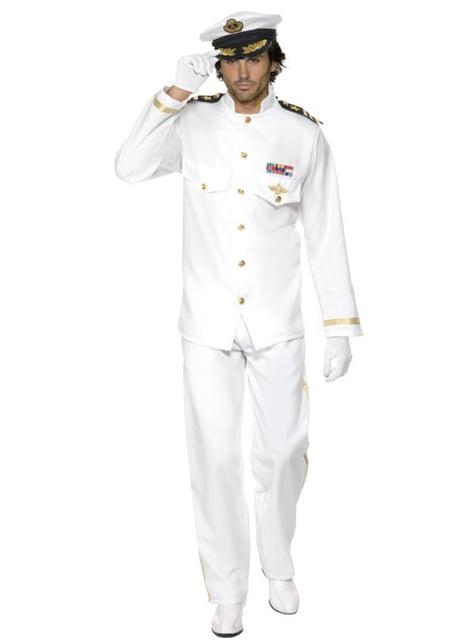 Deluxe Kaptein Kostyme Voksen