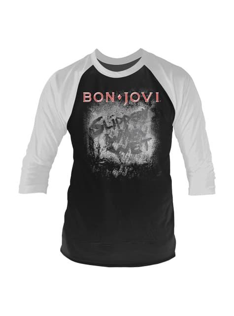 Bon Jovi Slippery When Wet Raglan T-Skjorte til Menn