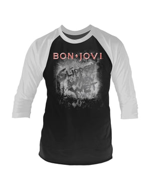 Bon Jovi Slippery When Wet Raglan T-Shirt for Men