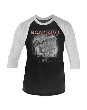 Tričko pro muže  Bon Jovi Slippery when wet raglánový rukáv