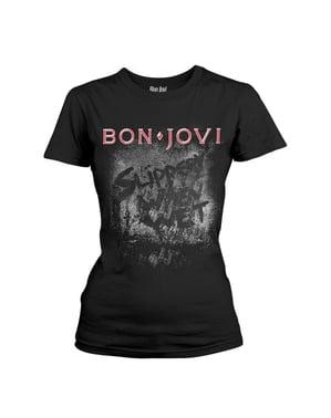 Γυναικεία Κοντομάνικη Μπλούζα Bon Jovi Slippery When Wet