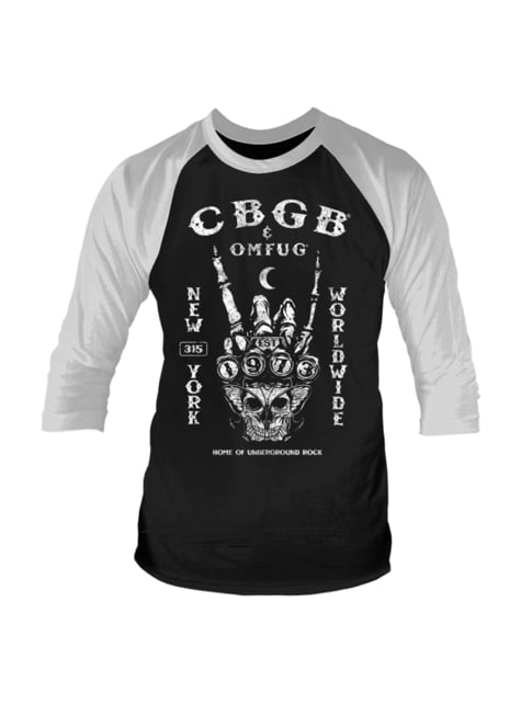 CBGB הוקמה 1973 Raglan בחולצת טריקו לגברים