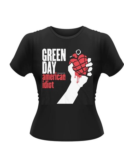 T-shirt Green Day American Idiot para homem