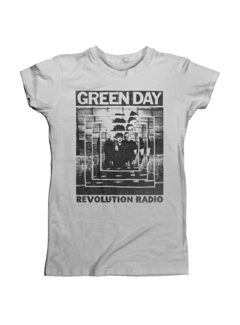 T-shirt Green Day Power Shot para mulher