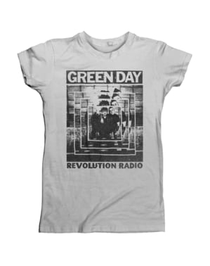 T-shirt Green Day Power Shot femme