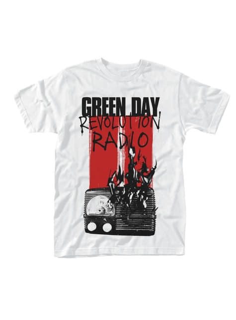 Green Day brandende radio T-Shirt voor mannen