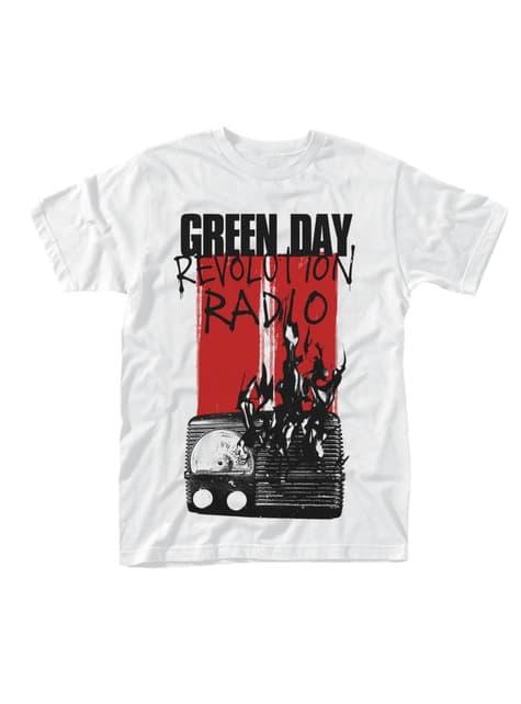 Grønn Day Radio Burning T-Skjorte til Menn