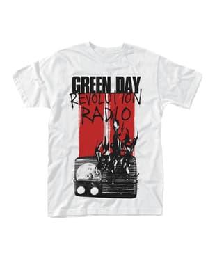 T-shirt Green Day Radio Burning para homem