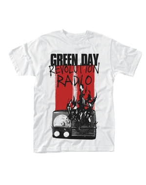 T-shirt Green Day Radio Burning per uomo