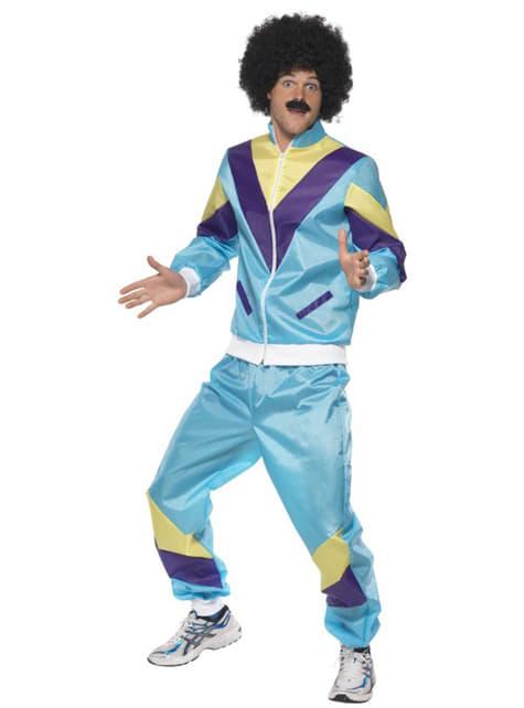 Disfraz años 80 en chándal para hombre