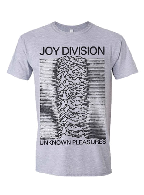 Joy Division Pleasures -T-paita Miehille Harmaana
