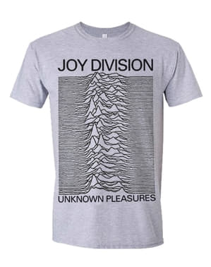 Joy Division Pleasures T-shirt til mænd i grå
