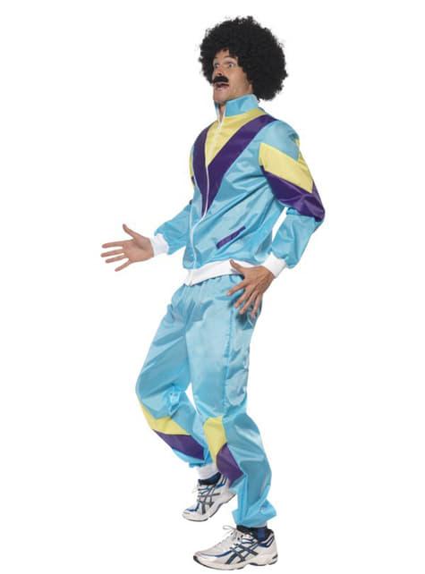 80-talls Gym Fyr Kostyme Voksen