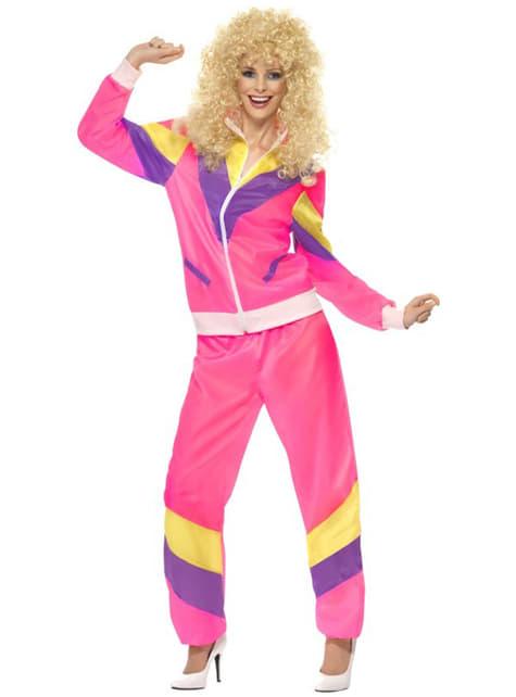 Disfraz años 80 en chándal para mujer