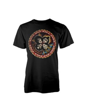 T-shirt Kiss Rock And Roll Over homme