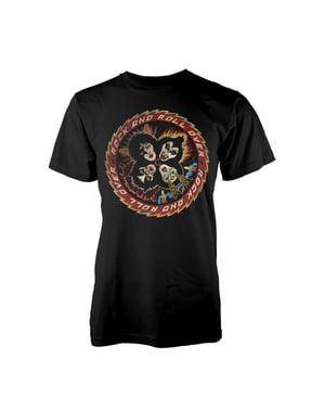 T-shirt Kiss Rock And Roll Over para homem