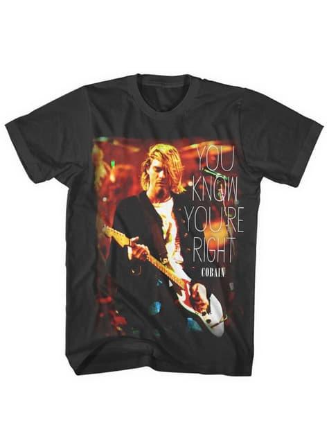 T-shirt Kurt Cobain You Know You're Right para homem