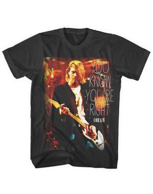 Kaos Kau Tahu Kau Benar untuk orang dewasa - Kurt Cobain